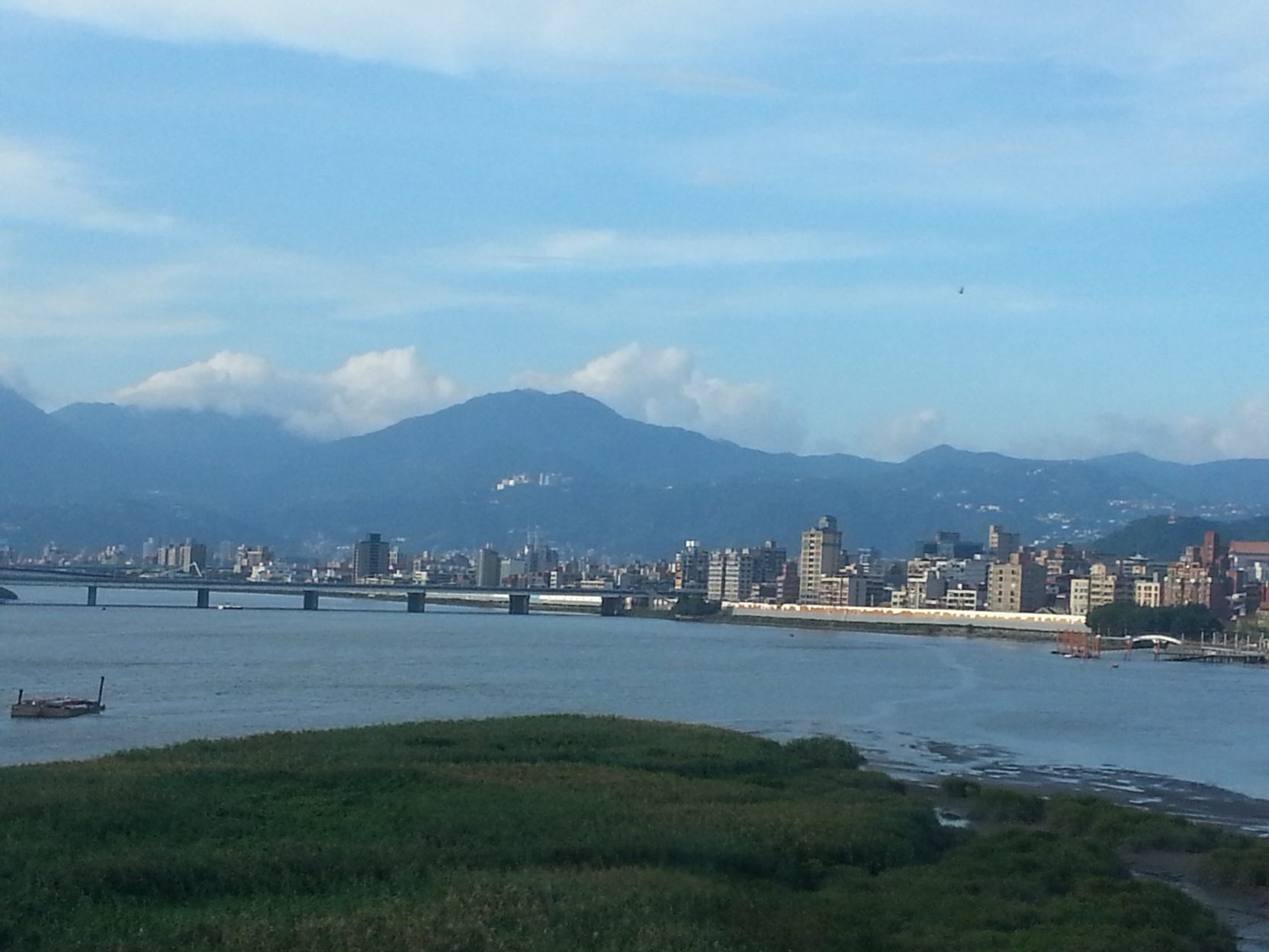 view from bus to taipei airport