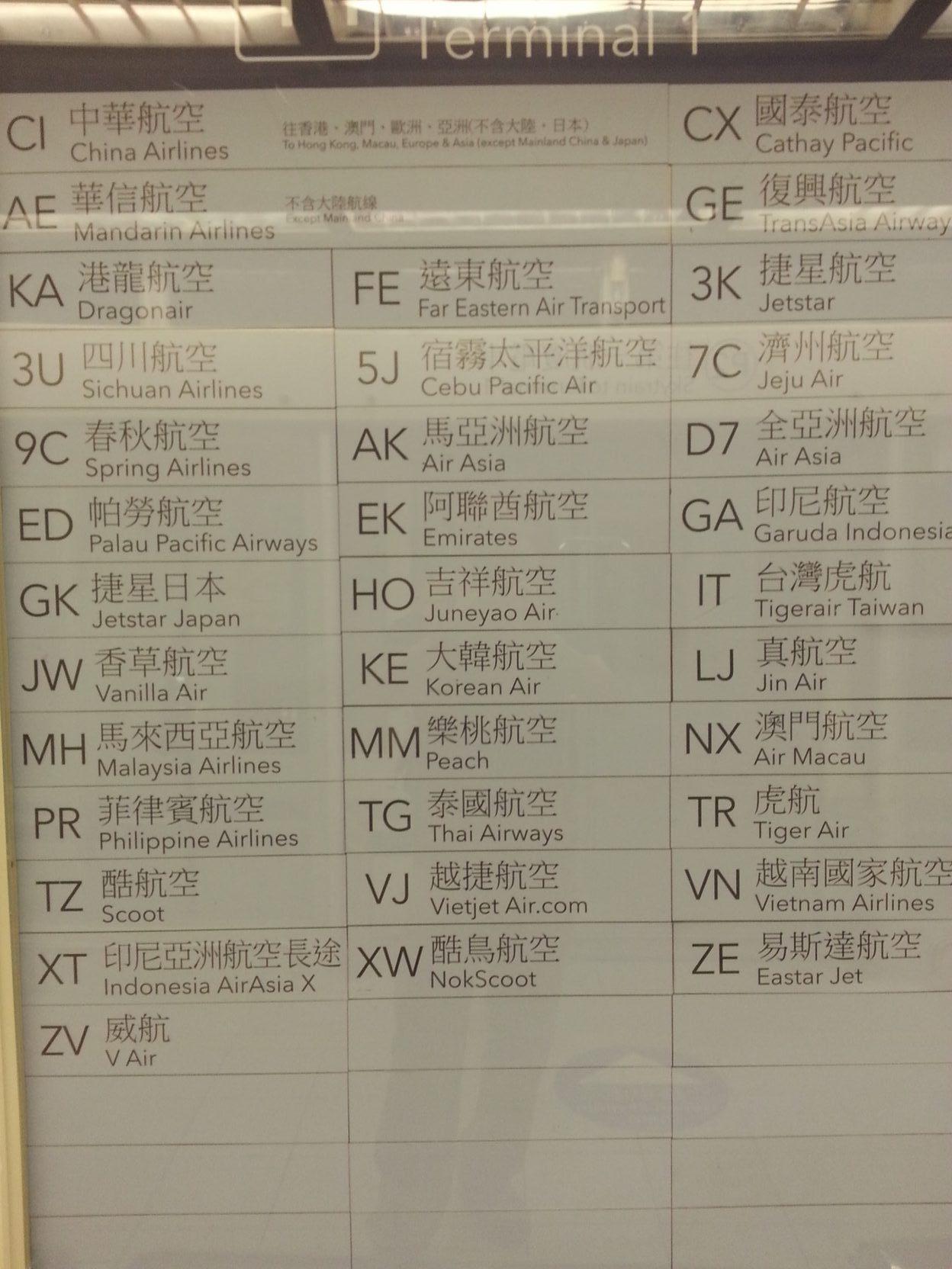 taoyuan airport terminal 1