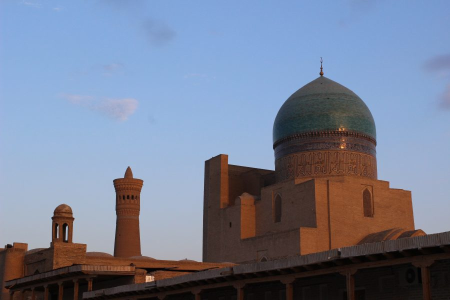 sunset in bukhara